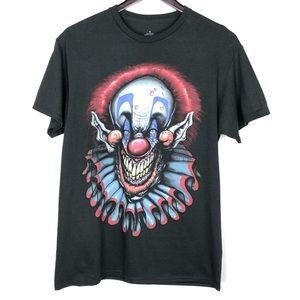 Men's Graphic Tee Creepy Clown Scary Black